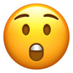 Astonished Face Emoji (U+1F632)