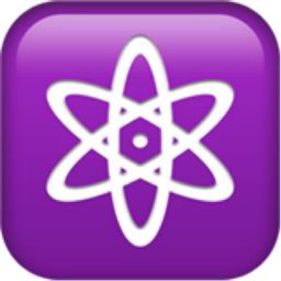 Atom Symbol Emoji (U+269B, U+FE0F)