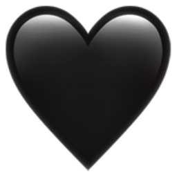 Black Heart Emoji (U+1F5A4)