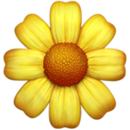 Blossom Emoji (U+1F33C)