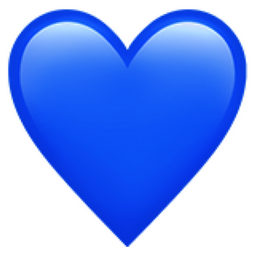 Plain Glass Crystal Heart Royal Blue No Message.