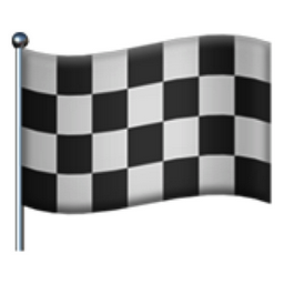 Chequered Flag Emoji (U+1F3C1)