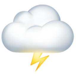 Cloud with Lightning Emoji (U+1F329)