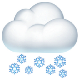Cloud With Snow Emoji U1f328