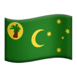 Keeling Inseln Flagge Revers-Abzeichen Cocos