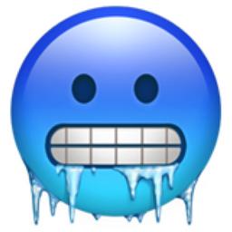 Cold Face Emoji (U+1F976)