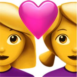 Couple with Heart: Woman, Woman Emoji (U+1F469, U+200D, U+2764, U+