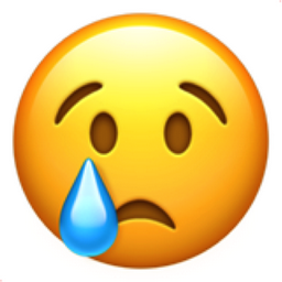 Crying Face Emoji (U+1F622)