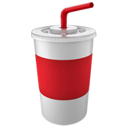 Cup With Straw Emoji U1f964