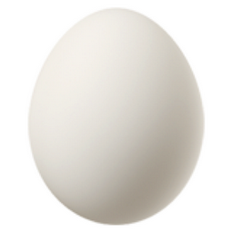 Egg Emoji (U+1F95A)