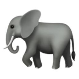 Elephant Emoji U 1f418 The elephant emoji first appeared in 2010. iemoji com