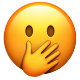 Face with Hand over Mouth Emoji (U+1F92D)