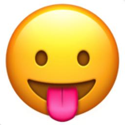 Face with Stuck-Out Tongue Emoji (U+1F61B)