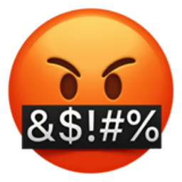 Face with Symbols over Mouth Emoji (U+1F92C)