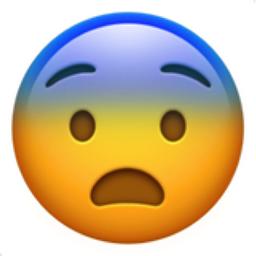 Fearful Face Emoji (U+1F628)