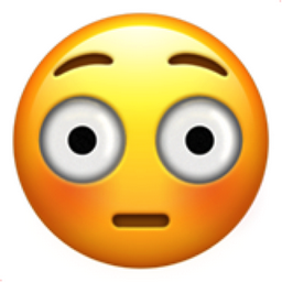 Flushed Face Emoji  Emojipedia