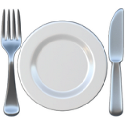 Fork and Knife with Plate Emoji (U+1F37D)