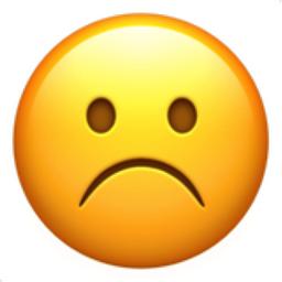 Frowning Face Emoji (U+2639, U+FE0F)