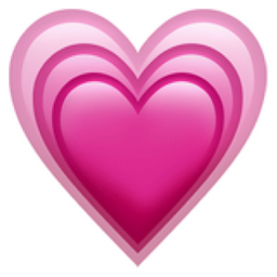 Growing Heart Emoji (U+1F497)