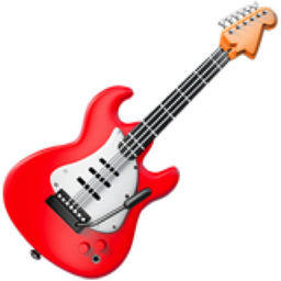 Guitar Emoji (U+1F3B8)