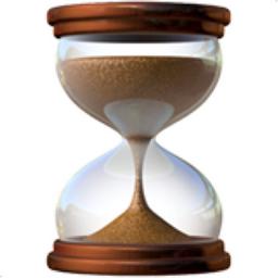Hourglass with Flowing Sand Emoji (U+23F3)