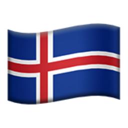 Bildresultat för icelandic flag emoji