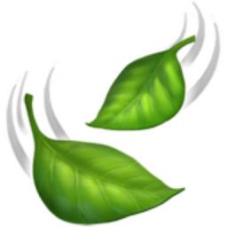 Leaf Fluttering In Wind Emoji U1f343