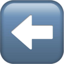 Left Arrow Emoji (U+2B05, U+FE0F)