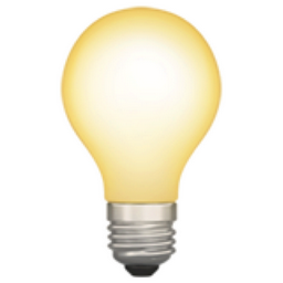 Image result for light bulb emoji