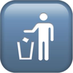 Litter In Bin Sign Emoji U 1f6ae