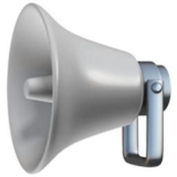 Loudspeaker Emoji (U+1F4E2)