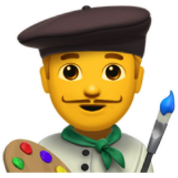 Man Artist Emoji (U+1F468, U+200D, U+1F3A8)
