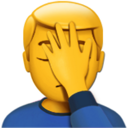 Man Facepalming Emoji U1f926 U200d U2642 Ufe0f