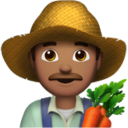 Man Farmer: Medium Skin Tone Emoji (U+1F468, U+1F3FD, U+200D