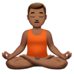 man in lotus position medium skin tone emoji u1f9d8 u