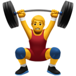 Image result for weight lift emoji