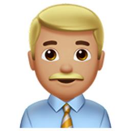 Man Office Worker Medium Light Skin Tone Emoji U 1f468 U 1f3fc U 0d U 1f4bc