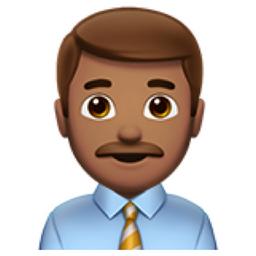 Man Office Worker Medium Skin Tone Emoji U 1f468 U 1f3fd U 0d U 1f4bc