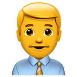 Man Office Worker Emoji U 1f468 U 0d U 1f4bc