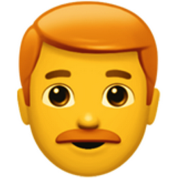 Man Red Haired Emoji U 1f468 U 200d U 1f9b0