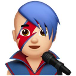 Bowie-inspired emoji