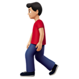 Man Walking Light Skin Tone Emoji U 1f6b6 U 1f3fb U 0d U 2642 U Fe0f