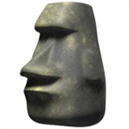 Moai Emoji (U+1F5FF)