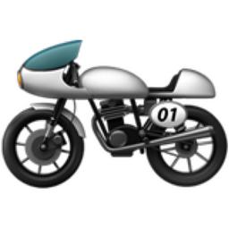 Motorcycle Emoji (U+1F3CD)
