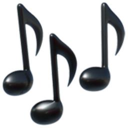 Musical Notes Emoji (U+1F3B6)