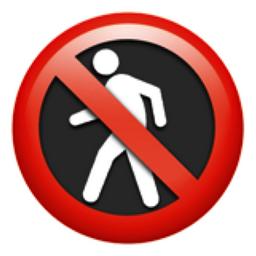 No Pedestrians Emoji (U+1F6B7)