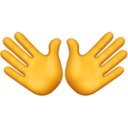 Open Hands Emoji U 1f450 Send warm applause to everyone you love, and encourage them to keep doing what they're doing. iemoji com