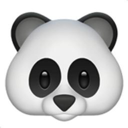 Panda Face Emoji (U+1F43C)