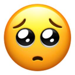 Pleading Face Emoji (U+1F97A)