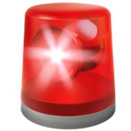 Police Car Light Emoji (U+1F6A8)